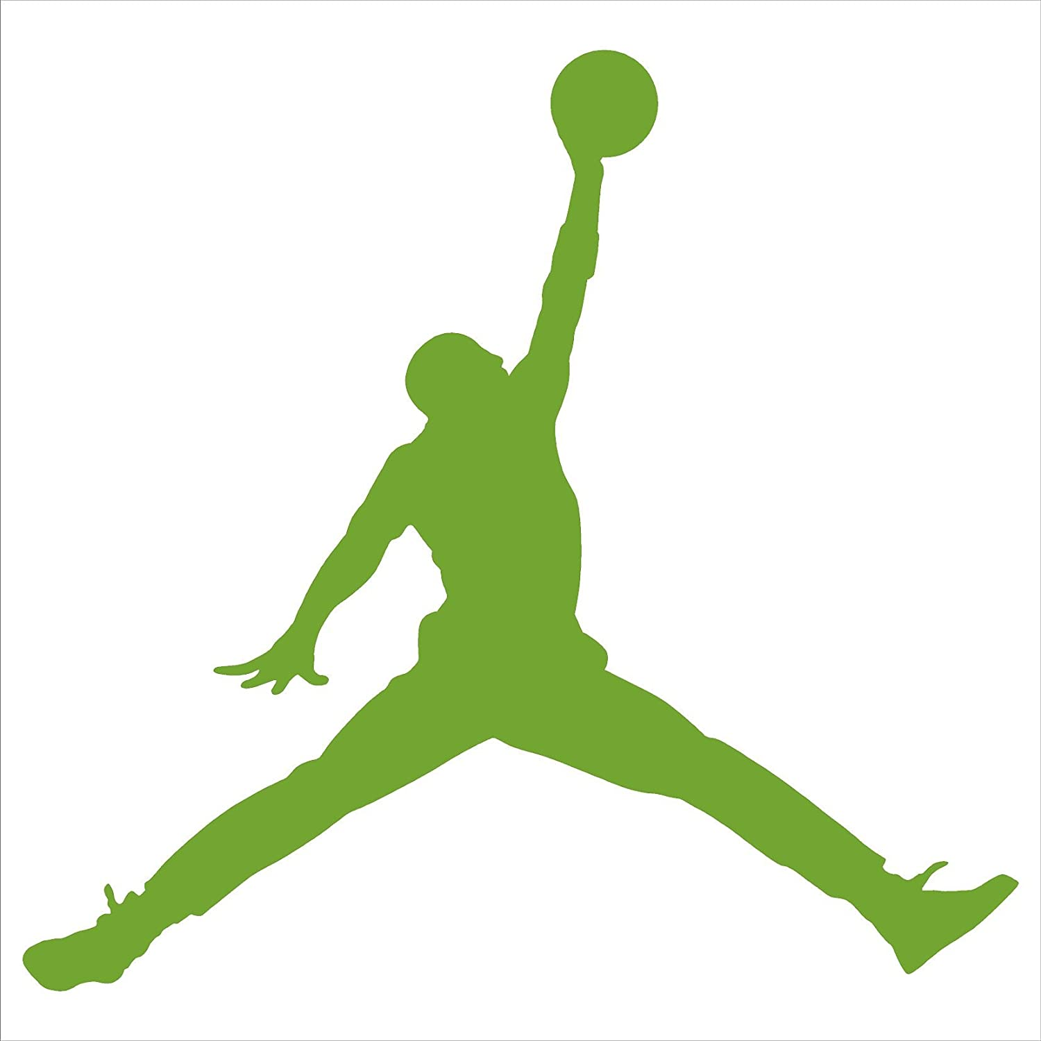 Amazon com greatman air jordan nike jumpman logo vinyl sticker decal black 6 inch home kitchen