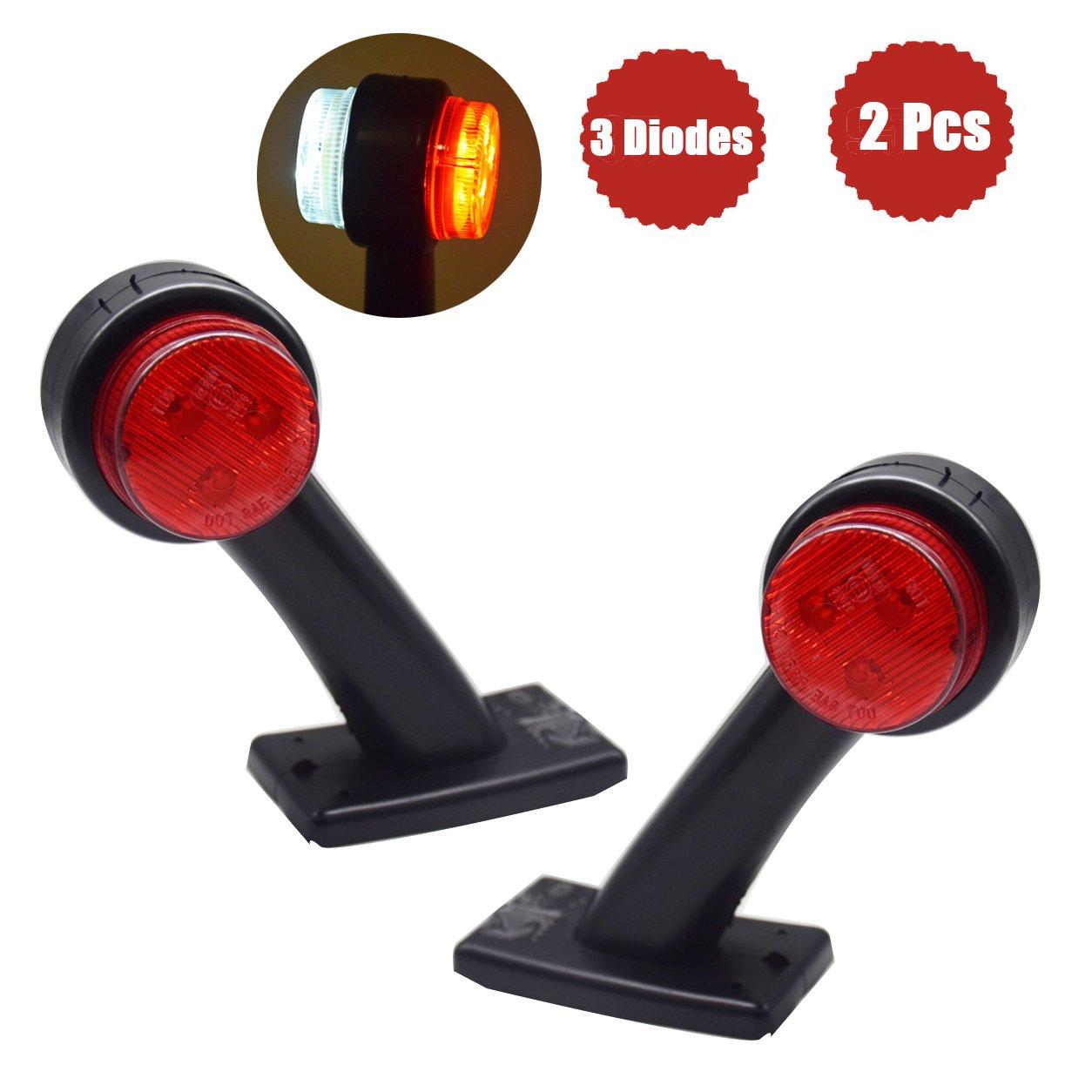 12V/24V Begrenzungsleuchte Positionsleuchte fü r Anhä nger LKW LED Seitenmarkierungsleuchten(2pcs) WildAuto