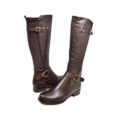 c04c6ce49b72 SoleMani Avigial Women s Casual Brown X-Slim 12 quot  Calf Leather Boot 6