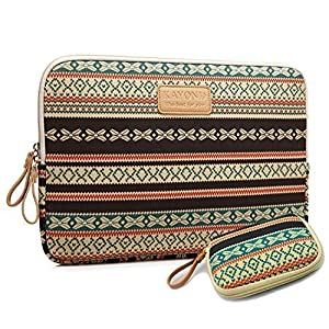 Kayond Bohemian Canvas Water-resistant Sleeve with a Storage Bag for 13-13.3 Inch Laptop Macbook Air/MacBook Pro