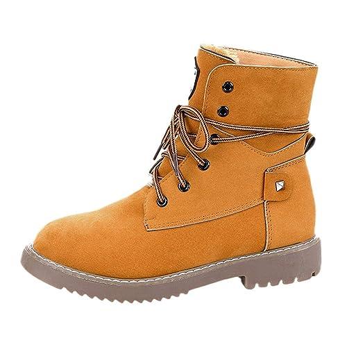 Botines para Adulto K-youth Botas Mujer Invierno Zapatos Mujer Plataforma Otoño Botines para Mujer
