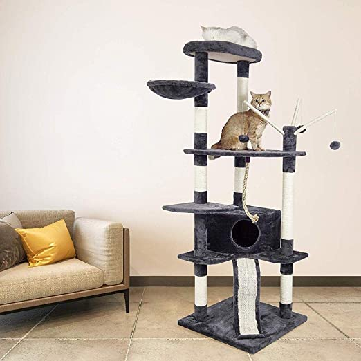 Gulunmun Árbol Rascador para Gatos Cat S Tree Scratcher Torre De ...