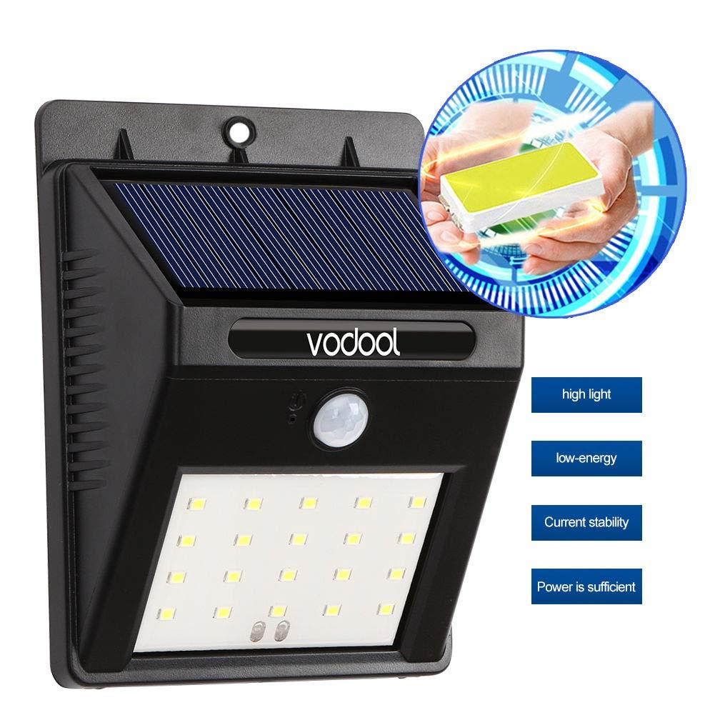 FidgetFidget Sensor Light Wall Pathway Garden Lamp Waterproof 20 LED Solar Power Infrared 4W