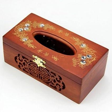 Caja de Madera Maciza Bandeja de Comida Bandeja Artesanal de Palisandro casa Retro Bandeja