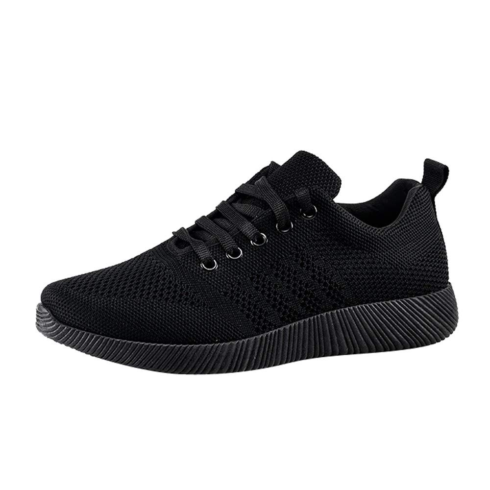 Women's Sport Shoes Classic Sneakers Refined Casual Athletic Lightweight Shoes Candy Color Student Running Shoes (US:7.5, Black)