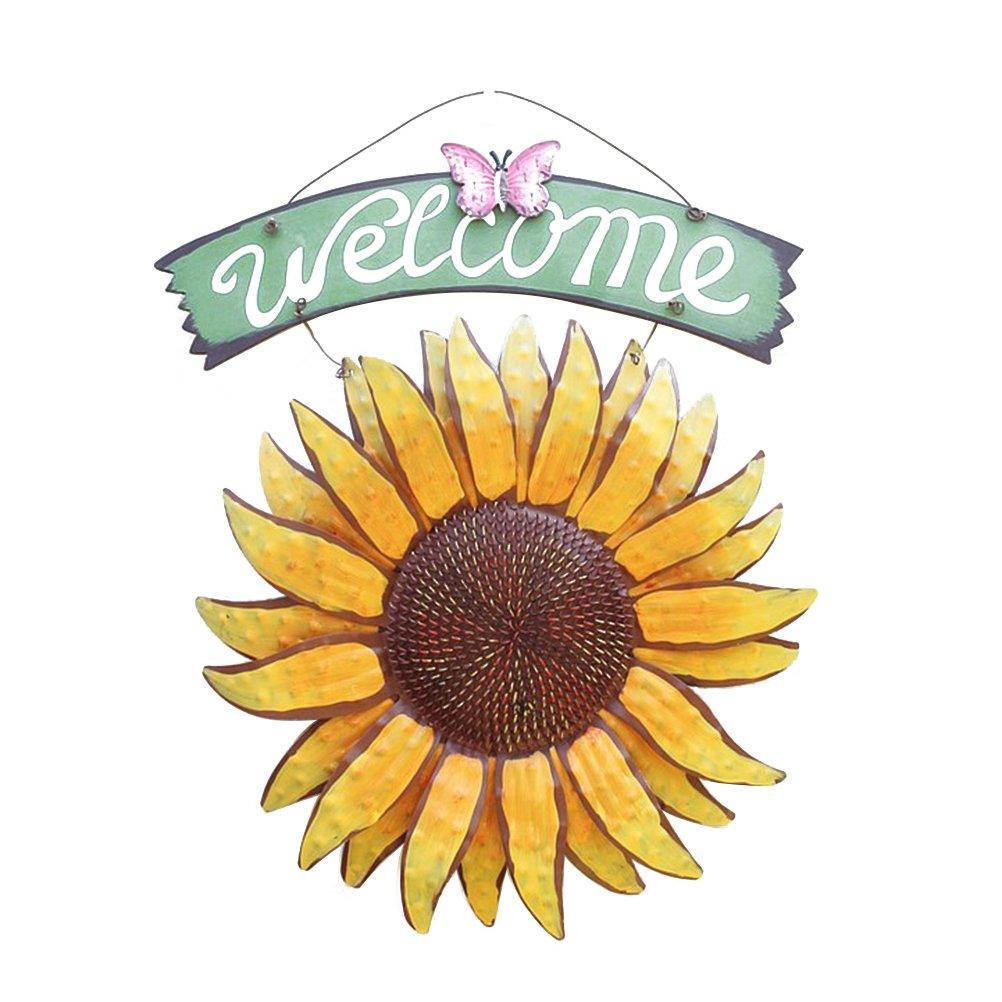 VORCOOL placa de bienvenida de madera Panel « 'Welcome' cuadros Welcome para puerta, ventana, Mura, café, Boutique, tienda