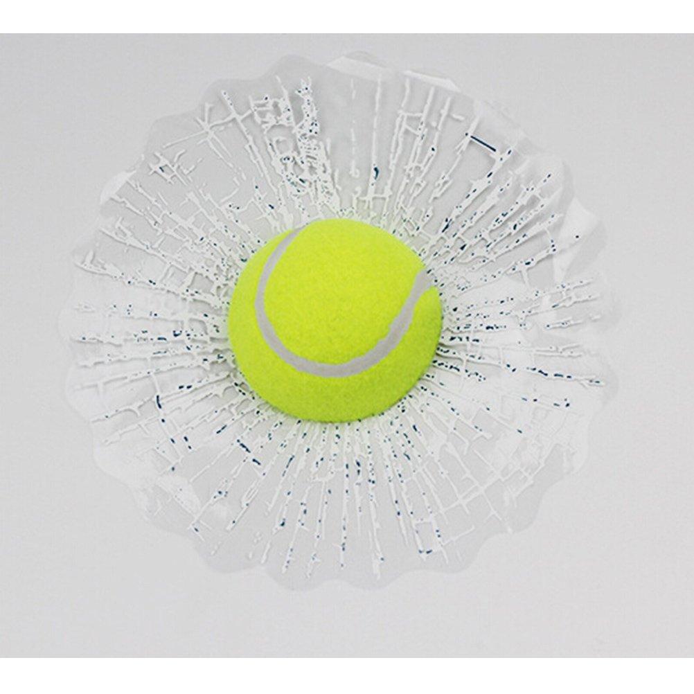 UEETEK 3D Self Adhesive Car Stickers Funny Auto Car Ball Window Sticker Tennis Decal