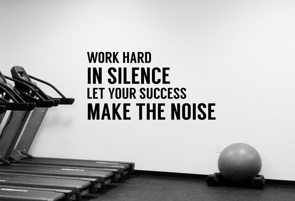 Inspirational quote decal gym motivational wall sticker vinyl art