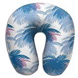 SARA NELL Memory Foam Neck Pillow Hawaii Palm Tree U-Shape Travel Pillow Ergonomic Contoured Design Washable Cover For Airplane Train Car Bus Office