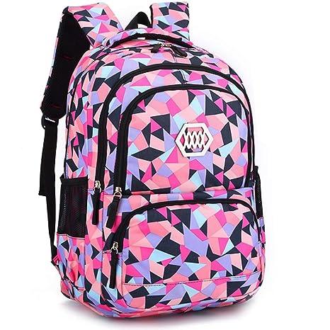 520759cedb Geometric Backpack Primary School Book Bag for Girls Boys 5-7 Years ...