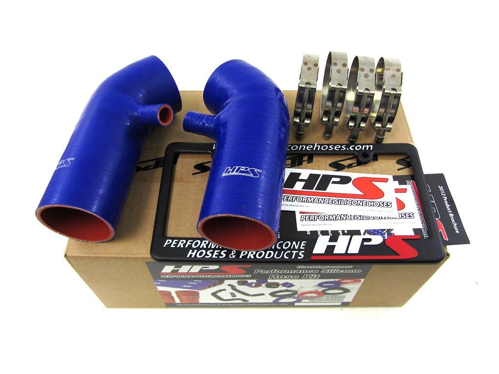 HPS 87-68426-BLUE-3 Blue Silicone Air Intake Hose (Post MAF Tube) by HPS