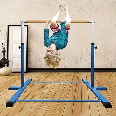Gymnastics Bar Adjustable Kids Horizontal Training Kip Bars Unique Xmas Gifts US