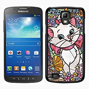 Lovely Marie Cat Stained Glass Black Abstract Custom Design Samsung Galaxy S4 Active i9295 Protective Phone Case