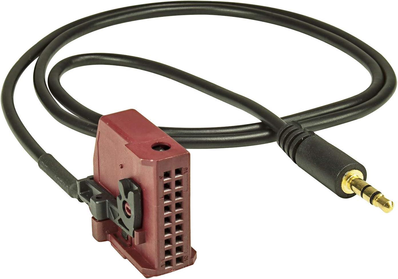 tomzz Audio 7557-001 AUX IN Adapter passend f/ür VW MFD2 VW RNS2 Skoda Nexus Man auf 3,5mm Klinke