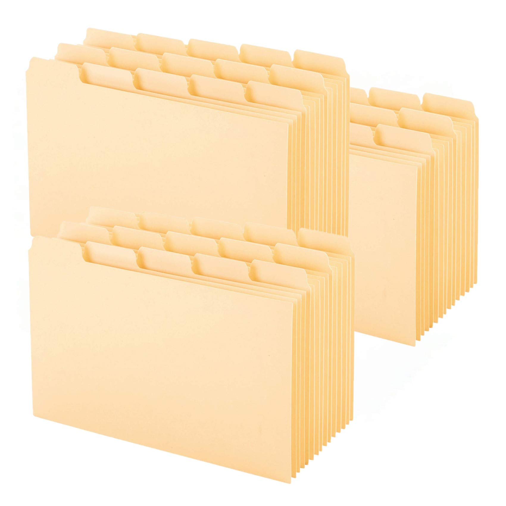 Oxford Index Card Guides with Blank Tabs, 4 x 6 Inches, 1/5 Cut Tabs, Manila, 100 per Box (40462), Pack of 3 by Oxford