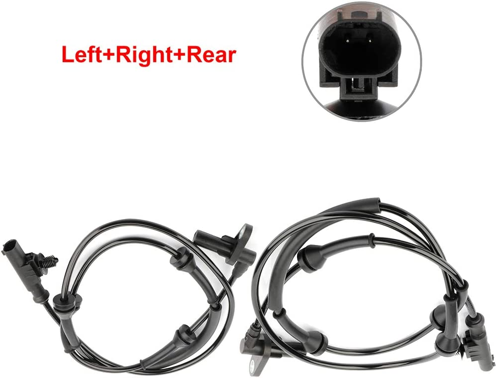 ANGLEWIDE 2 x ABS Wheel Speed Sensors Left+Right+Rear Replacement for 2010-2016 Land Rover LR4 2005-2009 Land Rover LR3