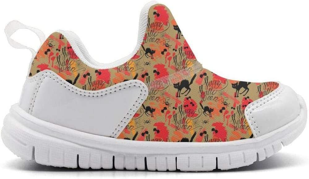 ONEYUAN Children Halloween cat Print Kid Casual Lightweight Sport Shoes Sneakers Running Shoes