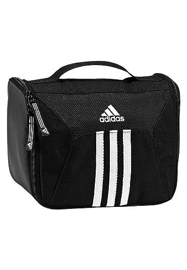 aa79d08aae0 adidas Wash Bag Unisex 3 Stripes Essentials 22 cm black   white Size 16 x