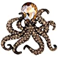 YACQ Jewelry Crystal Creepy Octopus Pin Brooch for Halloween Costume Accessories Party Women Teen Girl
