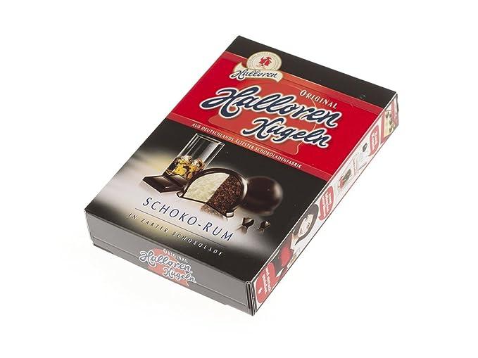 Halloren Kugeln Crema de ron de chocolate en chocolate dulce amargo 125 g