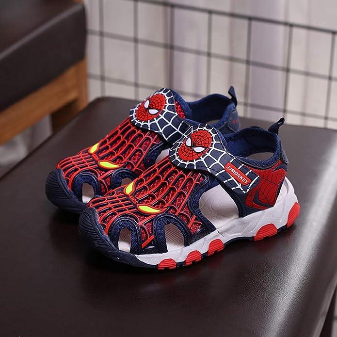 ROKIDS Kids Baotou Spiderman Sandals Boys Sport Water Beach Shoes