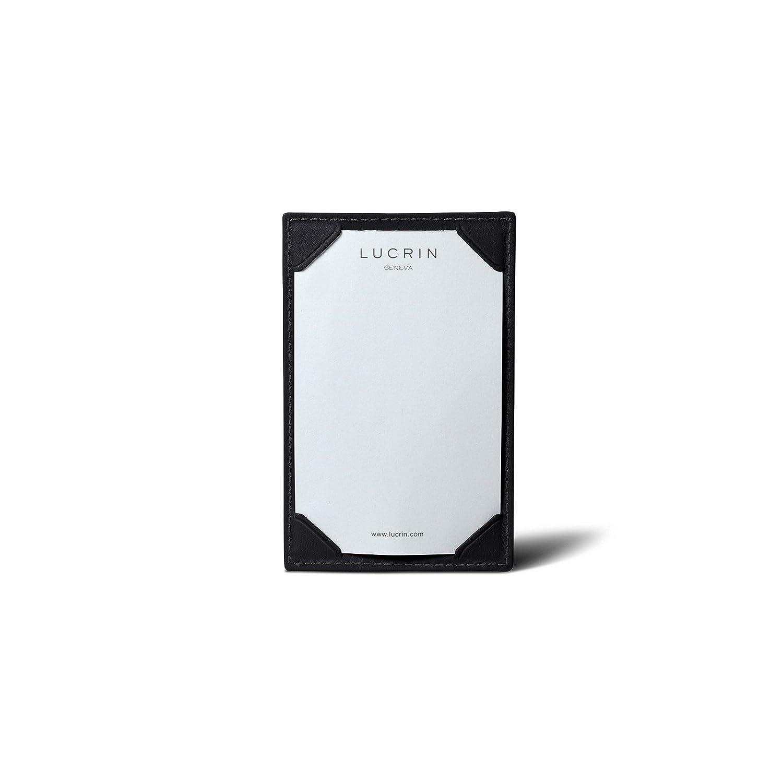 Lucrin – Small手書きパッド4.3 X 2.8インチ – Smoothレザー ブラック B006GTT6IQ ブラック ブラック