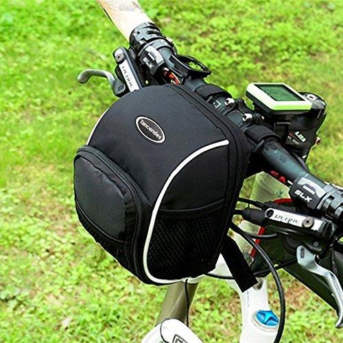 Tancendes Bicycle Cycling MTB Bike Basket Front Frame Tube Handlebar Bag With Rain Cover