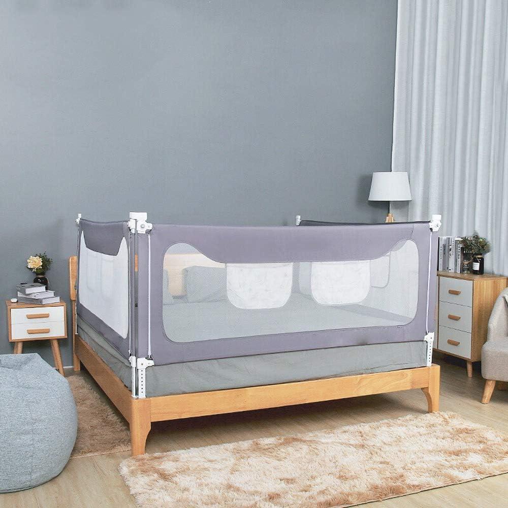 ベッドフェンス ベビードロップガードレール垂直リフティングベビーベビーベッドバッフルベッドは、ベッドが快適なフェンスの1pcsをレールレール (色 : グレー, サイズ : 180cm)