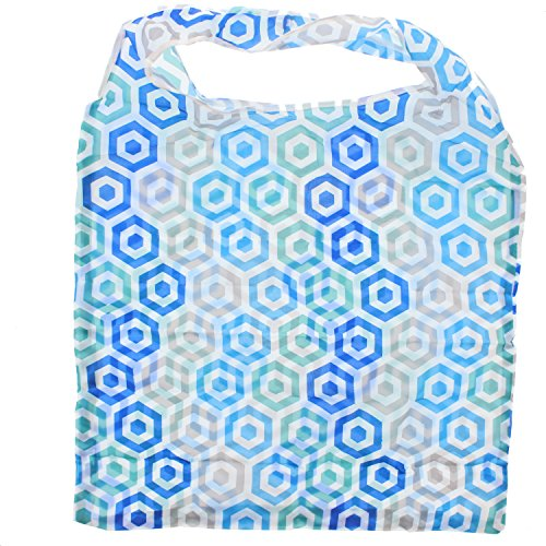 Shopping Pocket Blue Bag Clippable Alter Ego Zac's Print With in Pouch Hexgaon 4nwEfYwq6