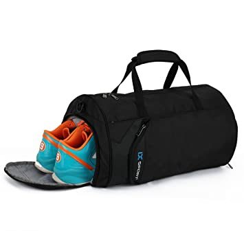 IX Fitness Sport Small Gym Bag With Shoes Compartment Waterproof Travel Duffel For Women And