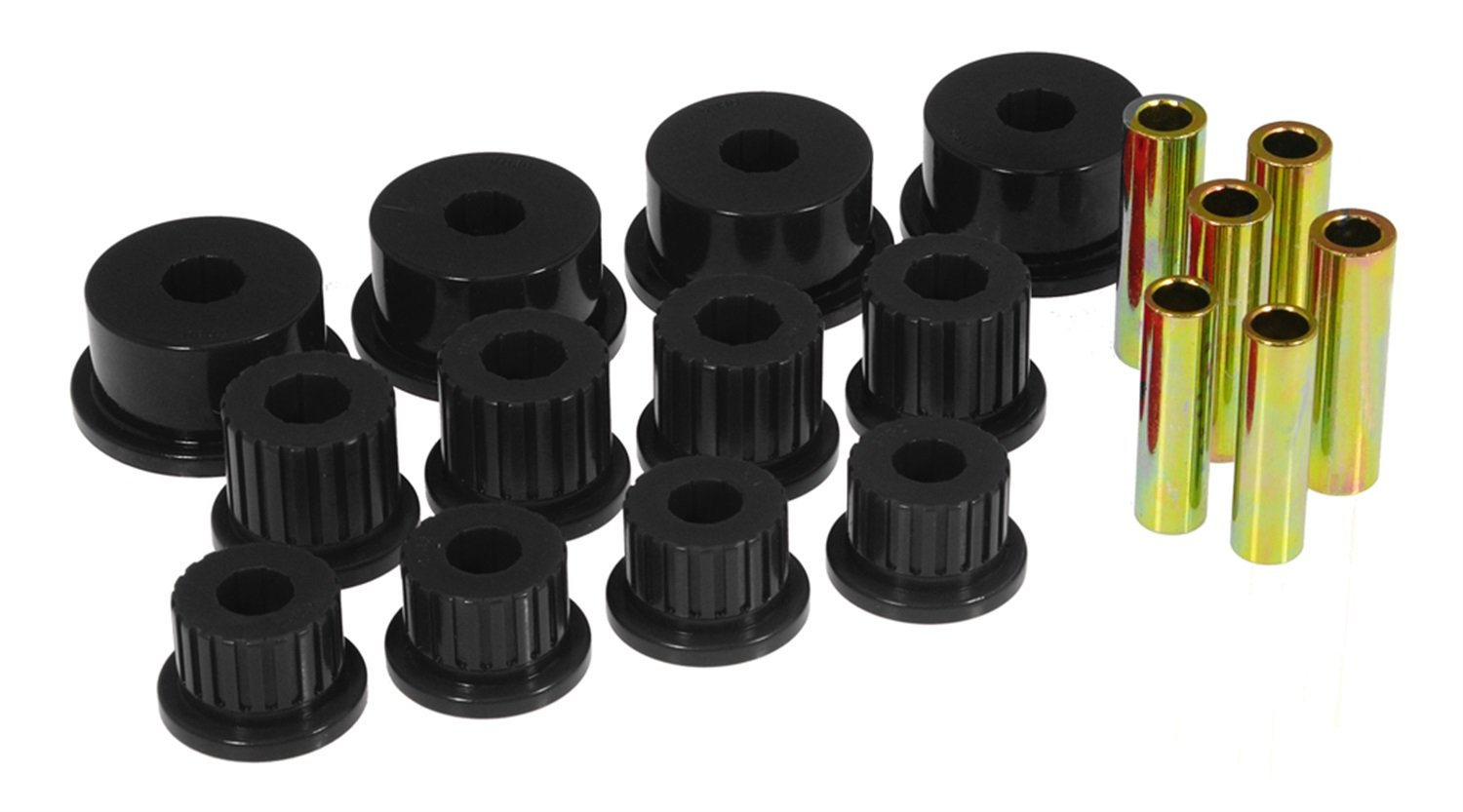 Prothane 4-1008-BL Black Rear Spring Eye and Shackle Bushing Kit