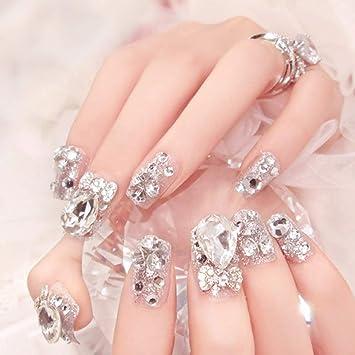 Sethexy Bling 3D Uñas falsas Cristal Boda Diamante de ...