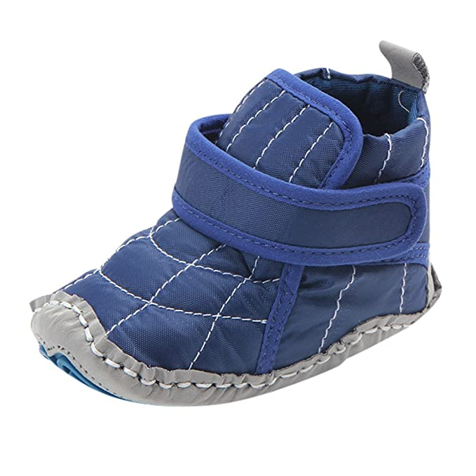 ALIKEEY Bebe Bebe Bebe Niñas Zapatos Sólido Suave Cálida Cuna Bota Antideslizante Zapatos De Invierno