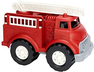 product image for Green Toys Fire Truck - BPA Free, Phthalates Free Imaginative Play Toy for Improving Fine Motor, Gross Motor Skills. Toys for Kids