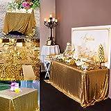 QueenDream Gold sequin tablecloth rectangle 50x50 rectangle sequin table cover