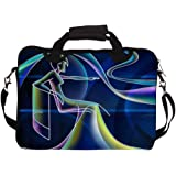 """Snoogg Neon Outline Of A Woman 2668 12"""" 12.5"""" 12.6"""" inch Laptop Notebook SlipCase With Shoulder Strap Handle Sleeve Soft Case With Shoulder Strap Handle Carrying Case With Shoulder Strap Handle for Macbook Pro Acer Asus Dell Hp Sony Toshiba"""