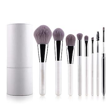 Amazon.com: Mooxury Professional Makeup Brushes Cosmetic Brush Set Synthetic Kabuki Eye Face Lip Powder Foundation Make Up Brushes with White Holder - 8 ...
