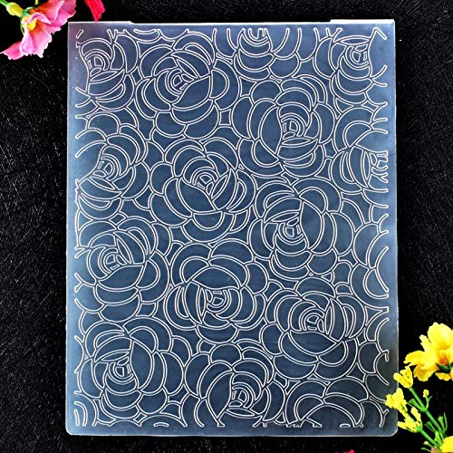 Kwan Crafts Flowers Plastic Embossing Folders for Card Making Scrapbooking and Other Paper Crafts 12.1x15.2cm