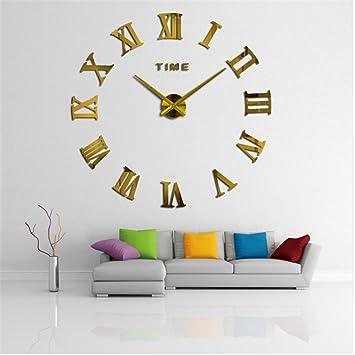 Zjchao Diy 3d Horloge Muralehorloge Murale Design Moderne Géante