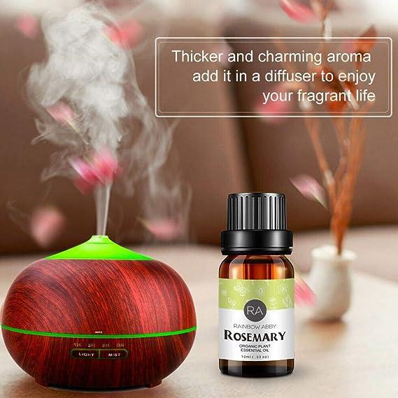 400ml Difusor de aromas & Set de aceites esenciales 6 x 10 ml ...