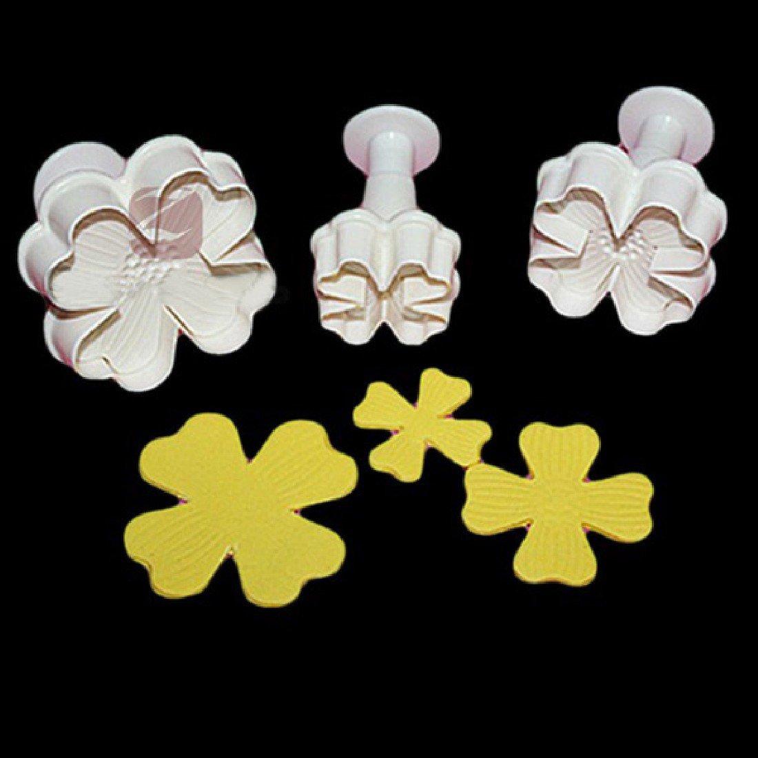 New 3pcs/set Flower Shape Cake Sugarcraft Plunger Decoration Diy Tool Mold Kitchen Accessories by Joylive (Image #3)