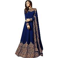 Skyview Fashion Dames Bollywood Anarkali Faux Georgette Salwar Kameez Lomg Semi Gestikt Kostuum