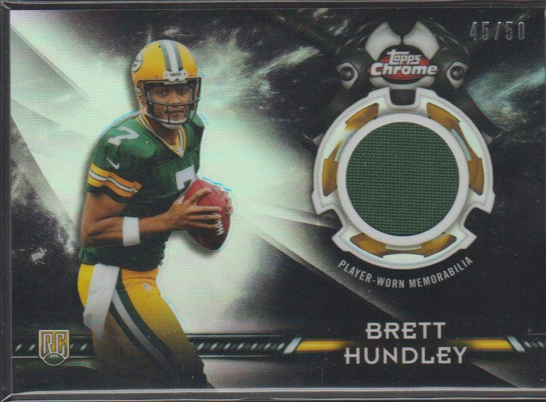 Amazon.com: 2015 Topps Chrome Brett Hundley Packers 45/50 Rookie ...