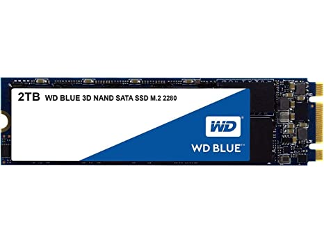 WD Blue 2TB M.2 Internal Solid State Drive (WDS200T2B0B) Internal Solid State Drives at amazon