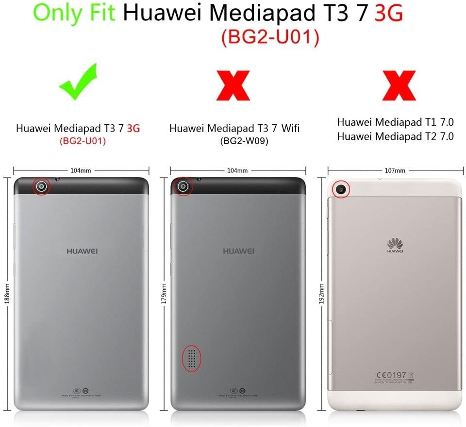 DETUOSI Huawei MediaPad T3 7.0 Custodia Cover Huawei Tablet 2017 ...