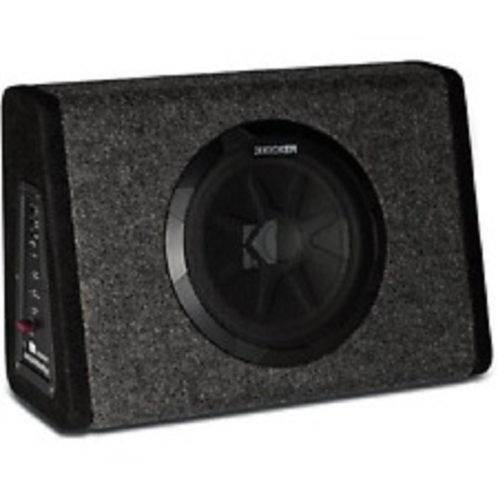 Amazon.com: Kicker Pt250 10 Subwoofer with Built-in 100w Amplifier ...
