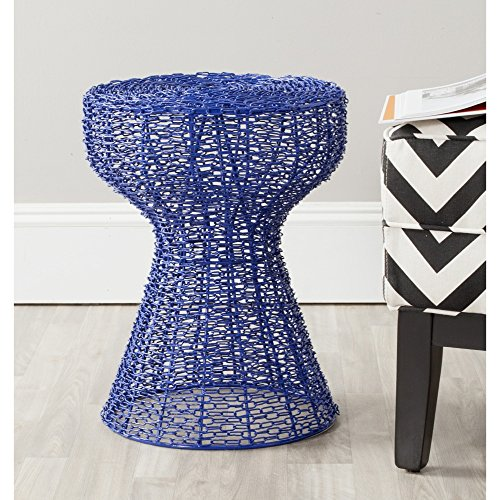 - Safavieh Home Collection Tabitha Blue Chain Stool