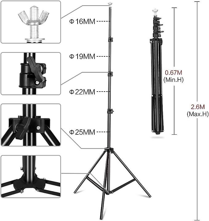 Robuster Hintergrundständer 2 6 X 3 M Kamera