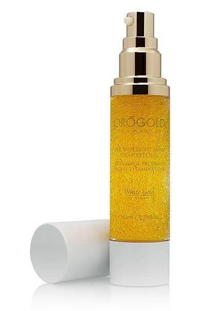 Orogold Oro blanco 24K vitaminas profunda Peeling Exfoliante Facial de cosmética, 50 ml./