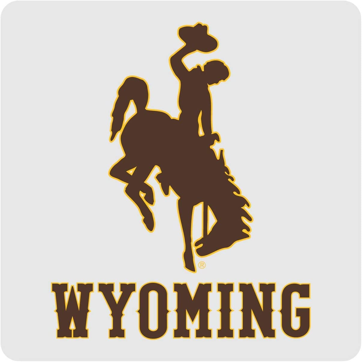 Wyoming Cowboys Coasters-NCAA Clear Acrylic Square Coaster 3 Pack